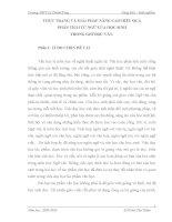 THỰC TRẠNG VÀ GIẢI PHÁP NÂNG CAO HIỆU QUẢ PHÂN TÍCH TỪ NGỮ CỦA HỌC SINH TRONG GIỜ ĐỌC VĂN
