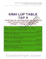 kính lúp table tập 9