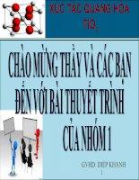 bài thuyết trình về xúc tác quang hóa tio2
