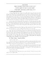 """Chuyên đề địa lý 9 MỘT SỐ BIỆN PHÁP RÈN NĂNG LỰC """"TỔNG HỢP TƯ DUY LÃNH THỔ"""" CHO HỌC SINH QUA MÔN ĐỊA LÝ 9"""