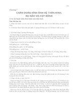 Chương 7 CHẨN ĐOÁN HÌNH ẢNH HỆ THẦN KINH, SỌ NÃO VÀ CỘT SỐNG