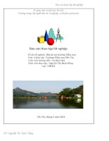 bài báo cáo nghiệp vụ nhà hàng khách sạn du lịch lữ hành