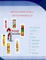 Thuyết trình môn marketing chiến lược giá cho dòng nước trái cây công ty rita food  drink co ,LTD