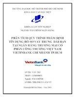 Phân tích quy trình thẩm định tín dụng hồ sơ vay trung dài hạn tại ngân hàng thương mại cổ phần Công thương Việt Nam Vietinbank chi nhánh Thành phố Hồ Chí Minh