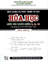 Rèn luyện và phát triển tư duy giải bài toán hóa học hữu cơ c