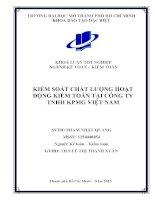 Kiểm soát chất lượng hoạt động kiểm toán tại công ty trách nhiệm hữu hạn KPMG Việt Nam
