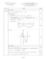 Đề thi và đáp án tuyển sinh đại học môn toán năm 2012