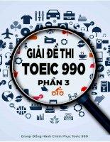 Giải đề thi TOEIC 990 phần 3