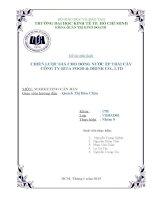 Tiểu luận môn marketing căn bản chiến lược giá cho dòng nước ép trái cây công ty Rita Food & Drink Co., LTD