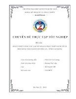 HOÀN THIỆN CÔNG tác lập kế HOẠCH PHÁT TRIỂN KINH tế xã hội HÀNG năm tại HUYỆN hòa AN,  TỈNH CAO BẰNG