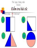bài giảng toán lớp 2 bài một phần ba