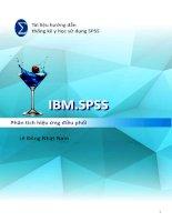 Tài liệu hướng dẫn thống kê y học sử dụng SPSS - Phân tích hiệu ứng điều phối Lê Đông Nhật Nam