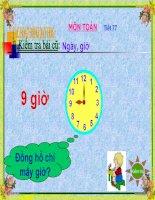 bài giảng toán lớp 2 thực hành xem đồng hồ