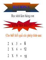 bài giảng toán lơp 2 pp bàn tay nặn bột bài bảng chia 2