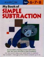 My book of simple subtraction  Trẻ học phép trừ() theo phương pháp kumon