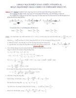 Bài tập mạch điện xoay chiều có lời giải