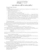 Kịch bản đại hội chi đoàn mẫu