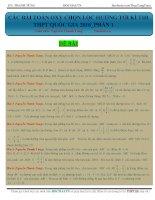 Các bài toán OXY chọn lọc hướng tới kỳ thi THPT quốc gia 2016 Phần 1 Thầy Nguyễn Thanh Tùng