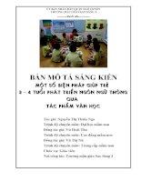 Sáng kiến kinh nghiệm một số biện pháp giúp trẻ 3 – 4 tuổi phát triển ngôn ngữ thông qua tác phẩm văn học