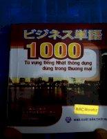 1000 từ vựng tiếng nhật thông dụng dùng trong thương mại
