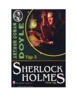 Sherlock holmes toàn tập tập 3   conan doyle
