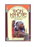 tiểu thuyết Donqihote  nhà quý tộc tài ba xứ mantra tập 2tác giả  cervantes