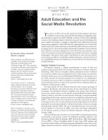 Adult Education and the Social Media Revolution