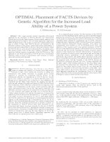 OPTIMAL placement of FACTS devices by genetic algorithm for the increased load ability of a power system