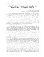 ÐỀ XUẤT ĐỔI MỚI THƯ VIỆN ĐẠI HỌC VIỆT NAM ÐÁP ỨNG YÊU CẦU HỘI NHẬP QUỐC TẾ