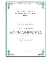 LUẬN VĂN TỐT NGHIỆP  CÁC GIẢI PHÁP NÂNG CAO HIỆU QUẢ HOẠT ĐỘNG TÍN DỤNG NGẮN HẠN TẠI NGÂN HÀNG NÔNG NGHIỆP VÀ PHÁT TRIỂN NÔNG THÔN VIỆT NAM  CHI NHÁNH KIÊN GIANG