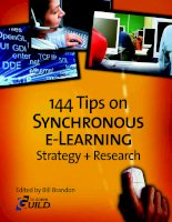 Tips on Synchronous eLearning Strategy Research