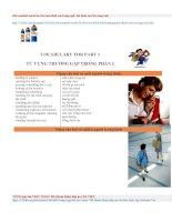 Từ vựng thường gặp part 1 kì thi TOEIC (tài liệu free)