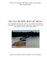 SSổ tay hướng dẫn sử dụng dầu diesel sinh học mỡ cá da trơn cho động cơ diesel lắp đặt trên phương tiện thủy nội địa đồng bằng sông mê kông
