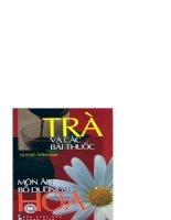 trà và các bài thuốc món ăn bổ dưỡng từ hoa