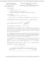 Đề thi thử môn toán 2016  THPT Bình Minh
