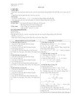 tiết 7 Bài tập vật lý lớp 10 NC