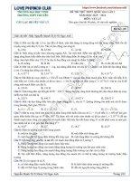Giải chi tiết đề thi thử môn lý năm 2016 chuyên đại học vinh lần 1