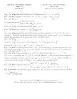 Đề thi thử THPT quốc gia môn toán của trường THPT nguyễn khuyến   TPHCM   lần 1   năm 2016
