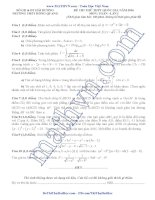 5 đề thi thử môn toán 2016 có lời giải chi tiết
