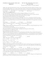 Đề thi thử THPT quốc gia môn hóa học của trường đề tham khảo từ moon vn   đề số 4