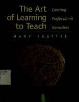 The art of learning to teach creating professional narratives