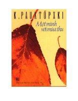 tác phẩm một mình với mùa thu của konxtatin  pautovski
