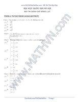 Đề thi thử môn toán vào ĐHQGHN năm 2016 (phần 1 tư duy định lượng)