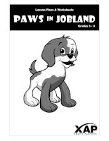 Paws in jobland grades 3 5 lesson plans  worksheets