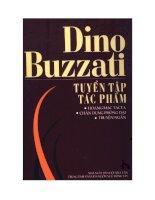 tuyển tập tác phẩm  dino buzzati