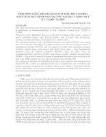 TÌNH HÌNH CHẤN THƯƠNG HÀM MẶT ðIỀU TRỊ TẠI KHOA RĂNG HÀM MẶT BỆNH VIỆN TRƯỜNG ðẠI HỌC Y KHOA HUẾ (TỪ 11/2003 - 11/2005)