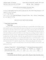 Kinh nghiệm trong việc quản lý và giáo dục học sinh cá biệt trường Trung học cơ sở Nguyễn Văn Tiệp có hiệu quả