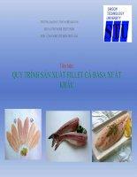 Tiểu luận quy trình công nghệ sản xuất Fillet ca basa