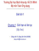 Bài giảng, Bài tập file ppt toán cao cấp A1 thầy Đặng Văn Vinh  Trường Bách Khoa