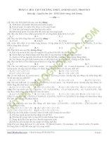 Bài tập trắc nghiệm amin, amino axit, protein có đáp án